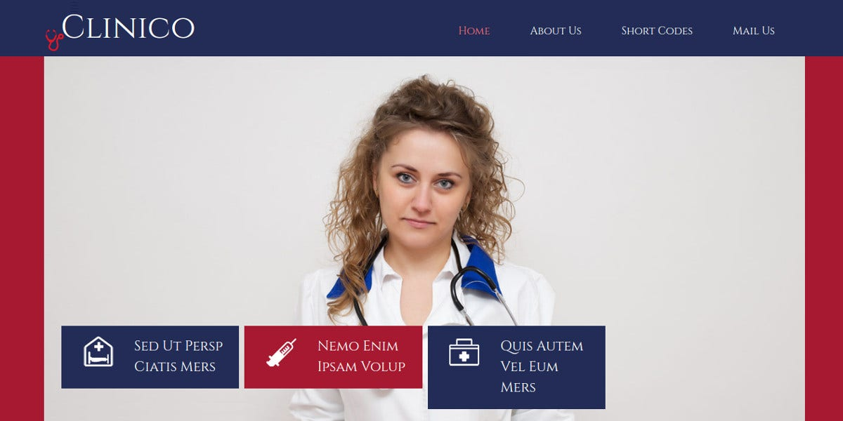 Medical Responsive Bootstrap Website Template