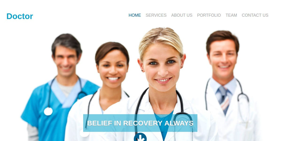 Free Medical Responsive Website Template $9