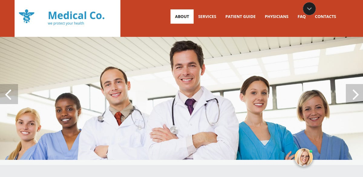 Medical Website Template for Doctors $248