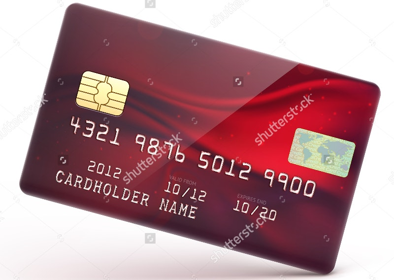 bright color credit card design