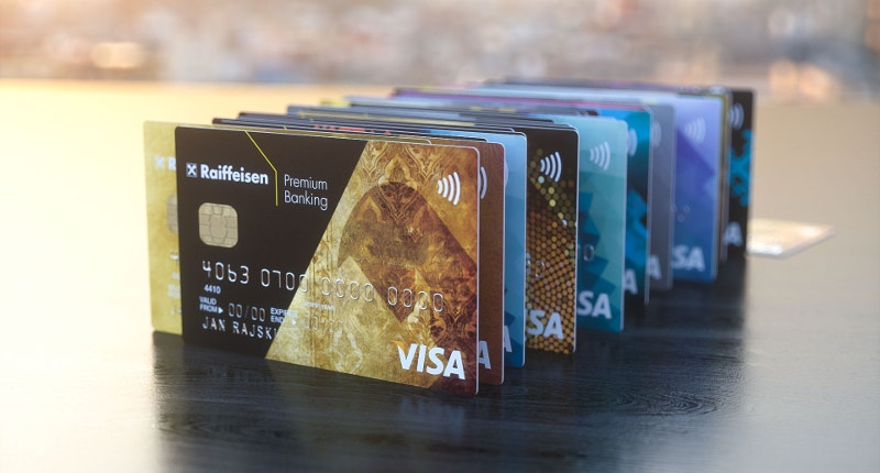 Well Arranged Set of Credit Cards