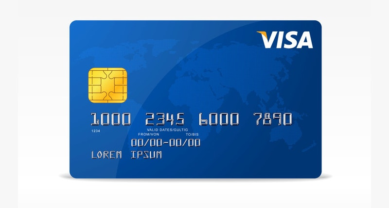 Vector Visa Credit Card Design