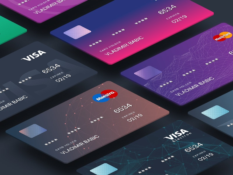 Colorful Designed Credit Cards