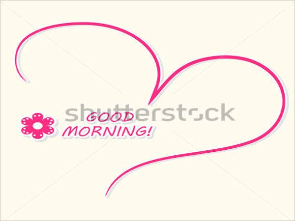 beautiful-good-morning-card-with-a-pink-hand-drawn-heart