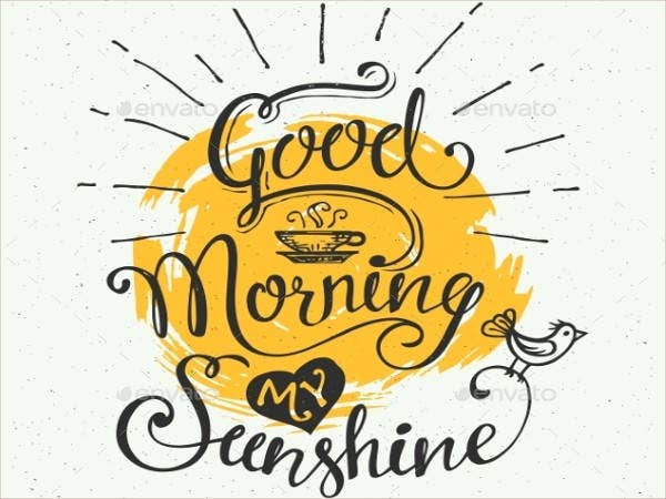 Good Morning Sunshine Breakfast Patty Melt : Good morning cards free psd ai vector eps format