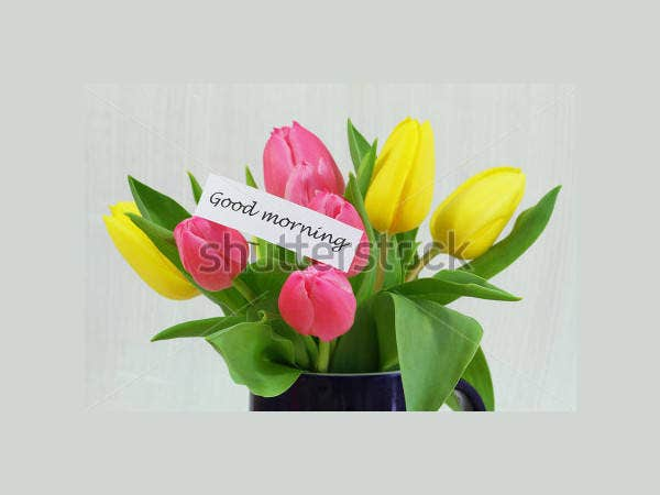 good-morning-card-with-colorful-tulips