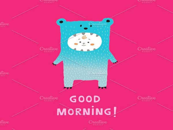 good-morning-kid-bear-card