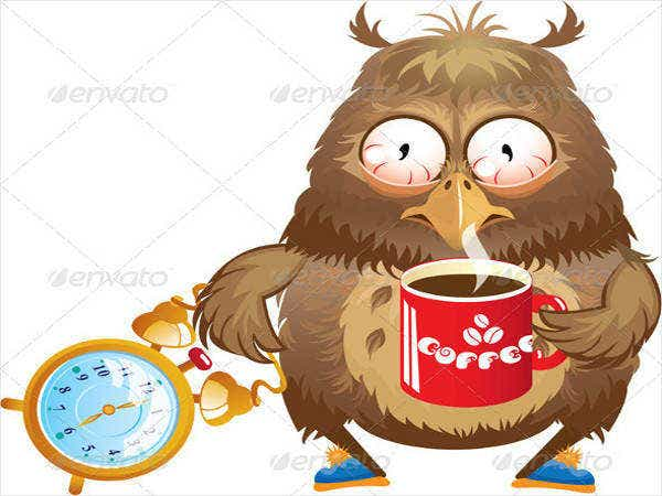 funny-owl-with-cup-of-coffee-card