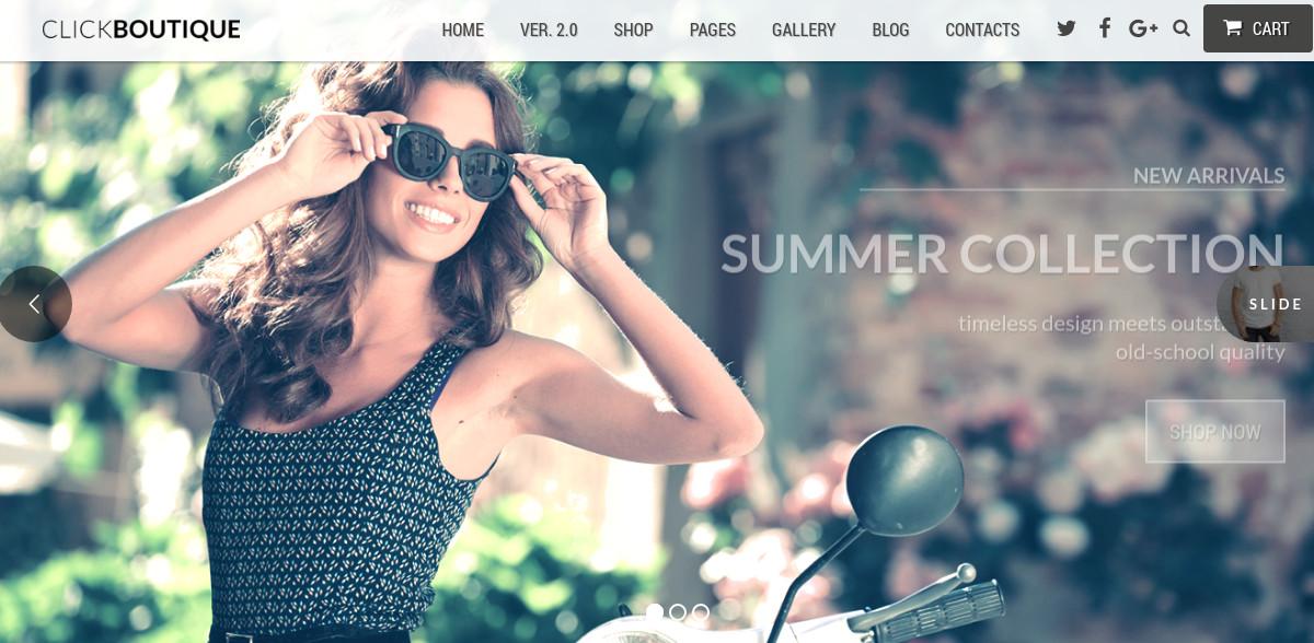 Fashion Shop & Boutique WordPress WooCommerce Website Theme $59