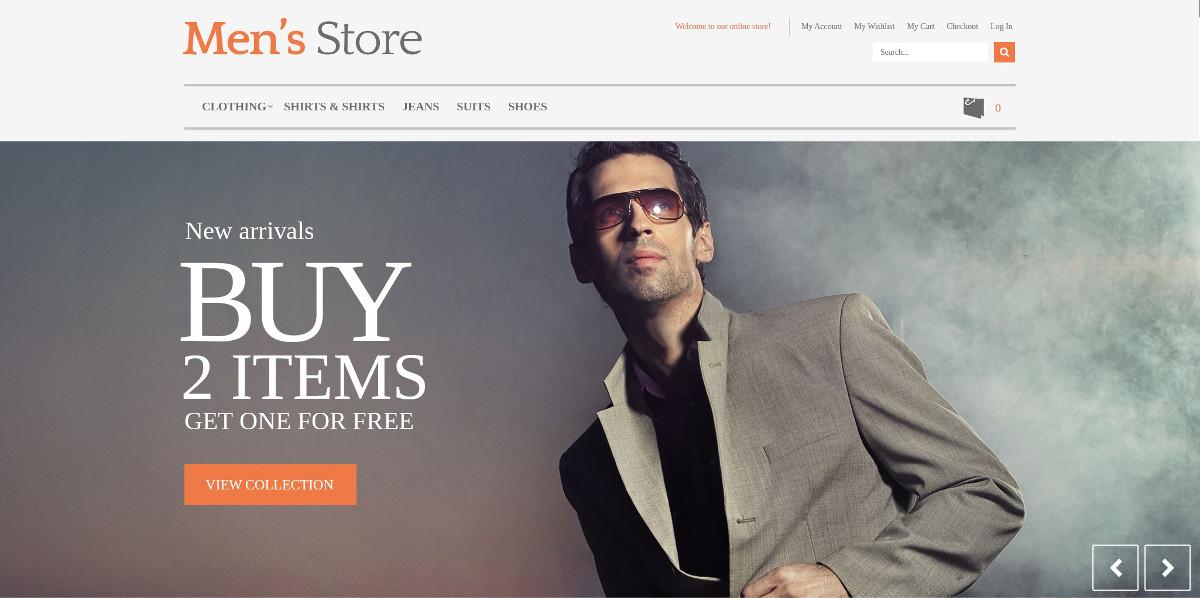 Men's Store Boutique PrestaShop Website Theme $139
