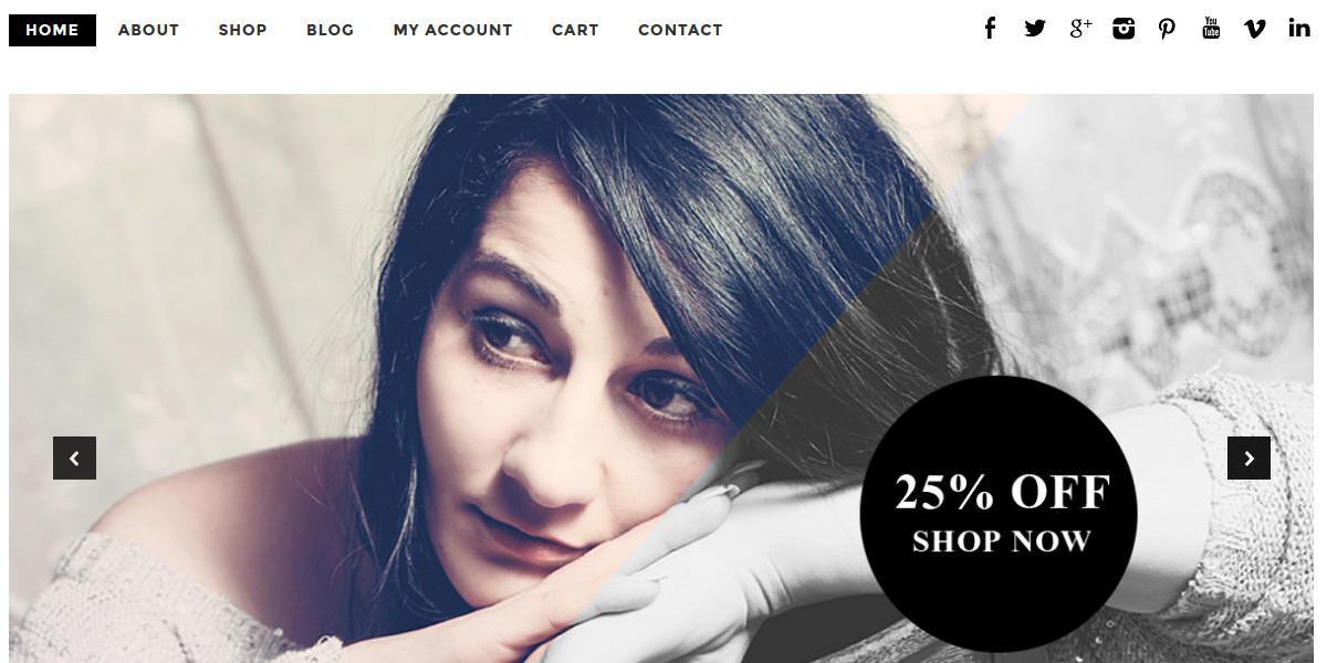 Minimal Boutique & Shop WooCommerce Website Theme $39