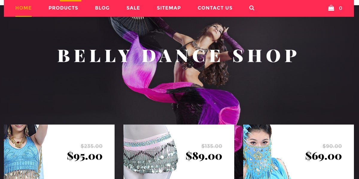 belly dance products shopify website theme 139