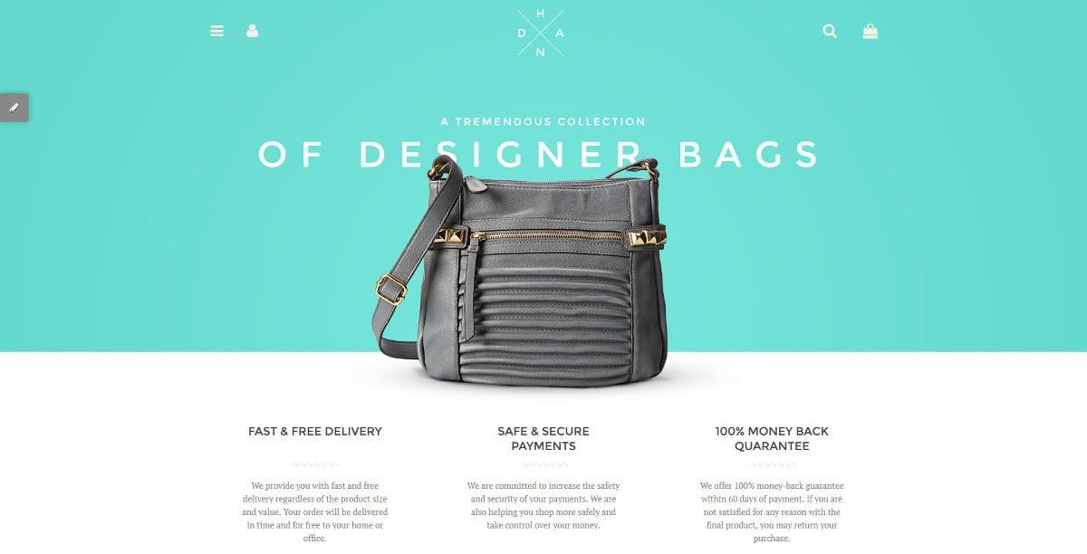 Handbag Boutique Shopify Website Theme $139