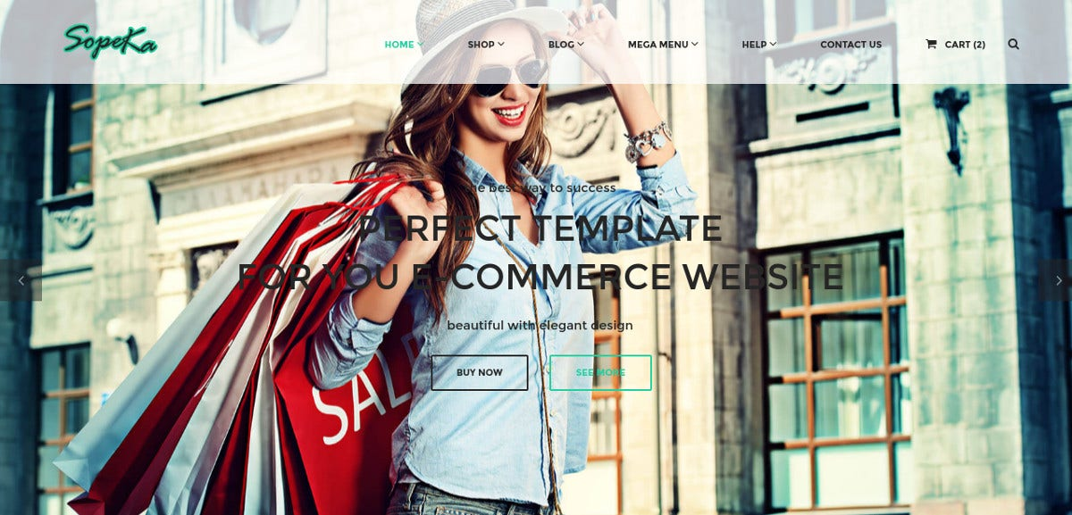 Retail Business, Boutique & eCommerce HTML Website Theme $18