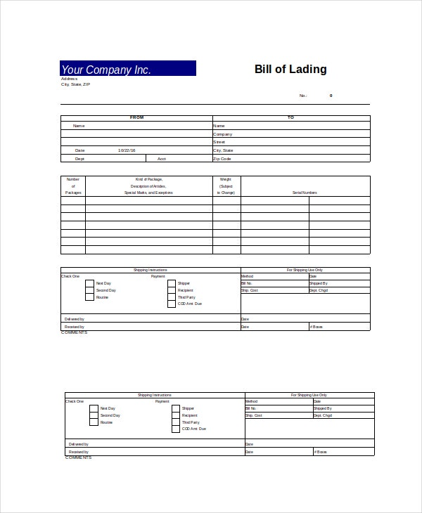 Excel Bill Template 14 Free Excel Documents Download Free