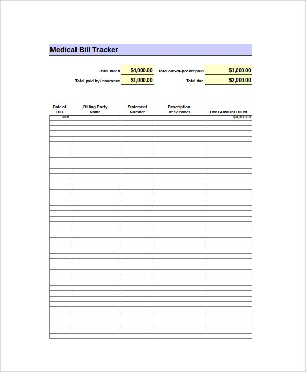 Charming Bill Tracker Excel Template Idea Bills Template Free