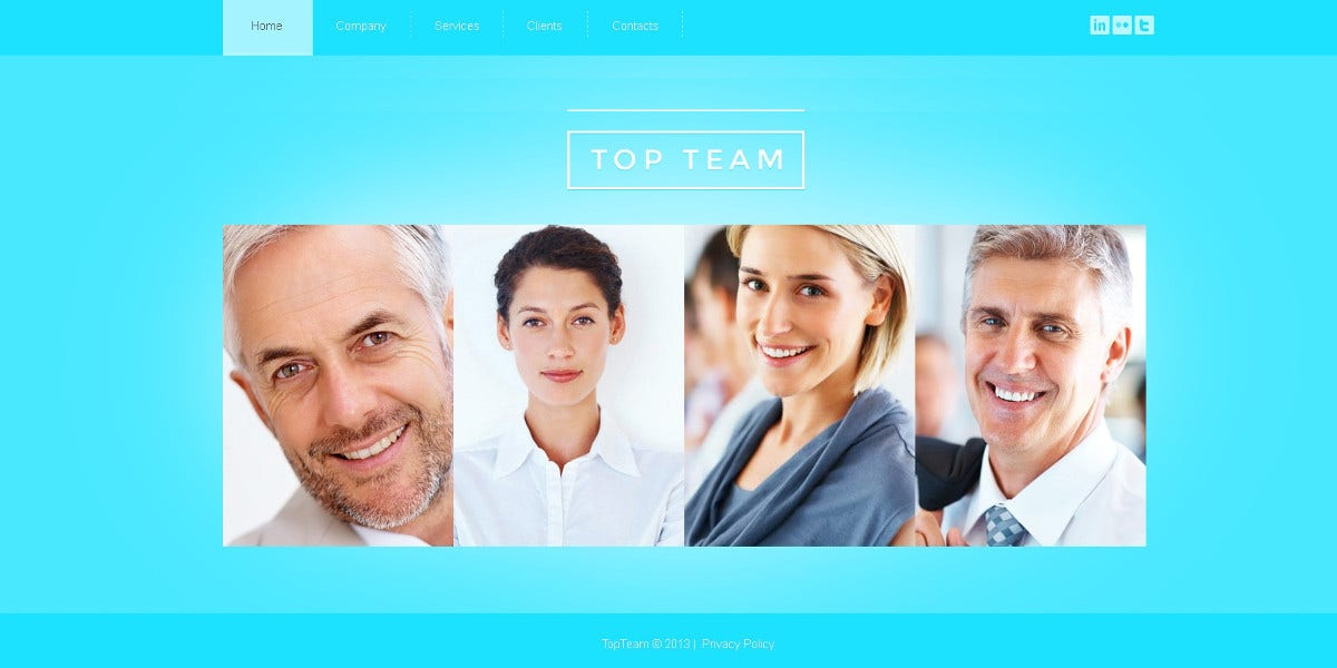 Marketing Agency Bootstrap Website Template $53