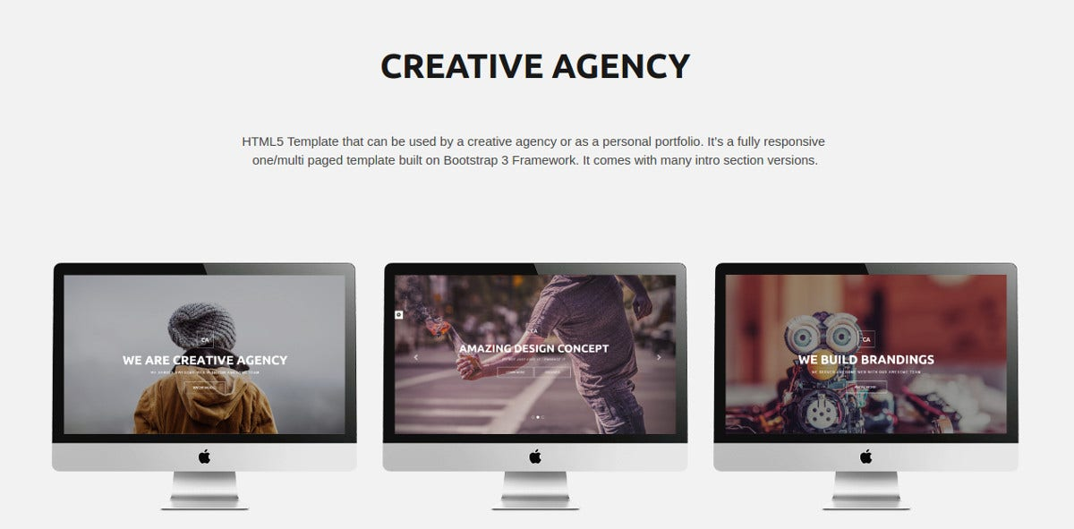 Creative Agency Bootstrap Template $15
