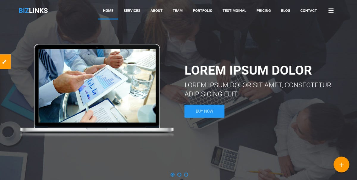 Multipurpose Business Agency Bootstrap Template $15
