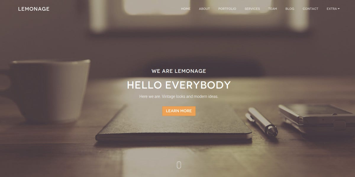 Modern Agency Bootstrap Theme $14