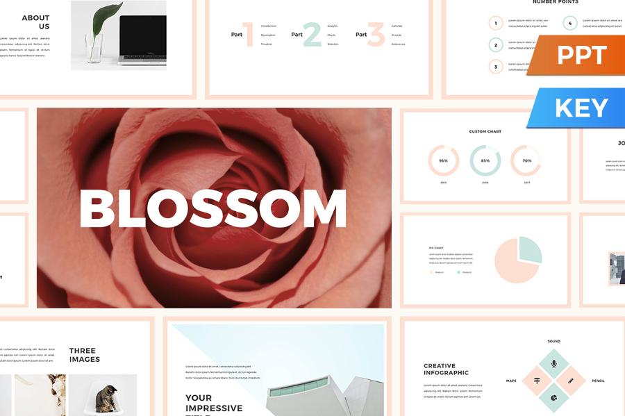 blossom presentation template design