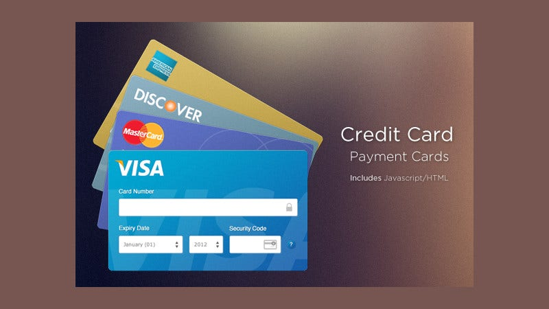 beautiful credit payment card design