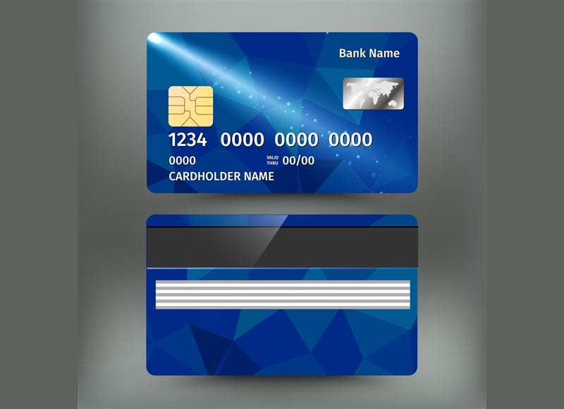 realistic banking credit card design1