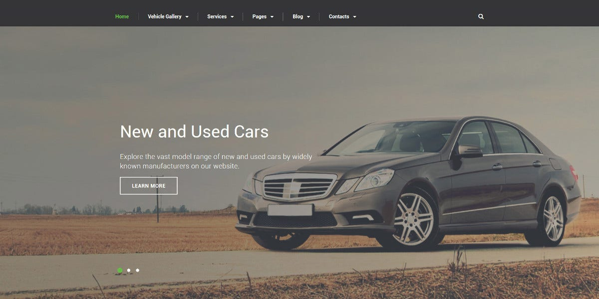Car Dealer Bootstrap Website Template $75