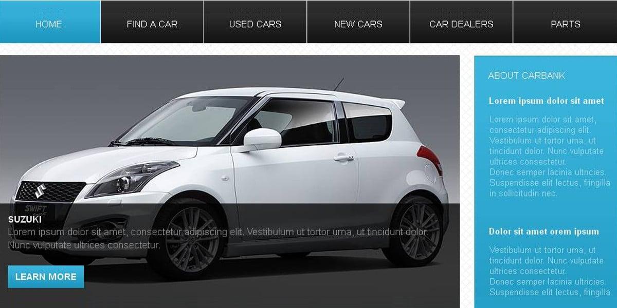 Car Dealer Moto CMS HTML Website Template $139