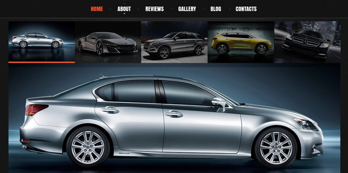 Car Dealer WordPress Website Theme $75