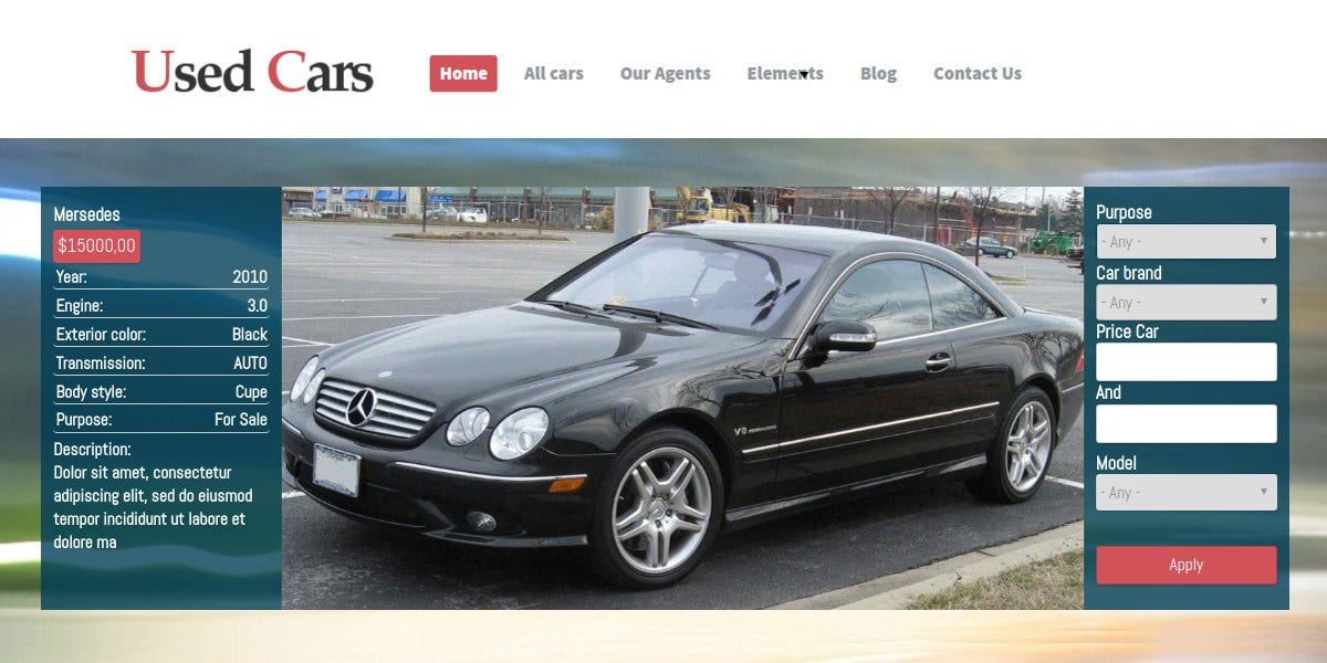 Car Dealer Drupal Website Theme $59