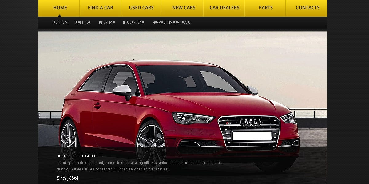 Car Dealer HTML Website Template