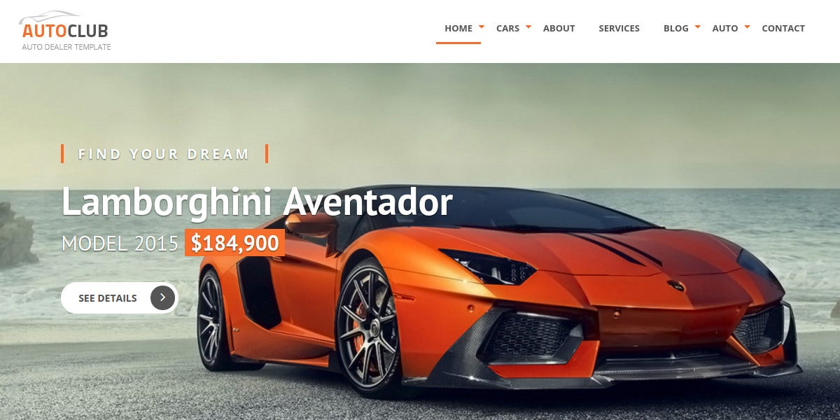 Responsive Car Dealer Joomla Website Template $48