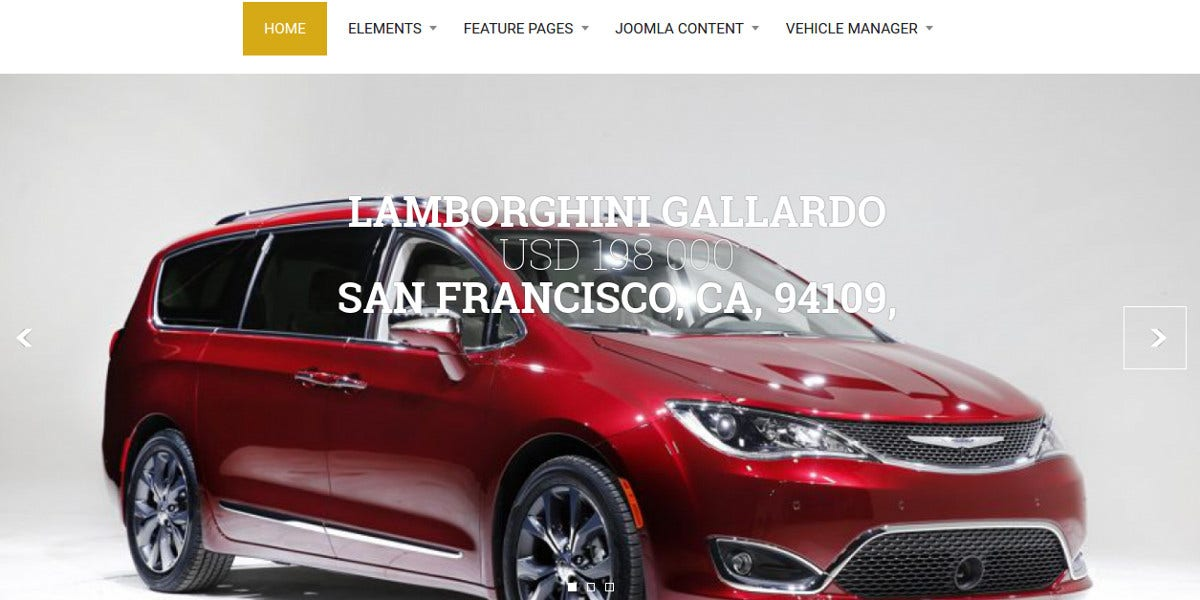 Exquisite Joomla Template for Car Dealers $69