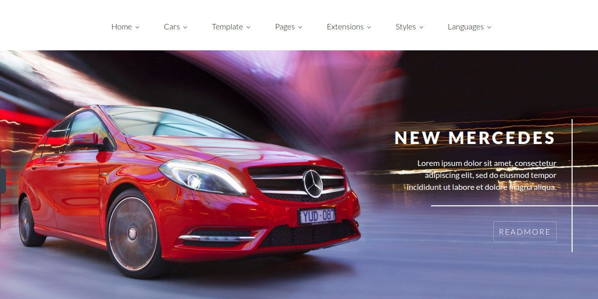 Car Dealer Multipurpose Joomla Website Template $43