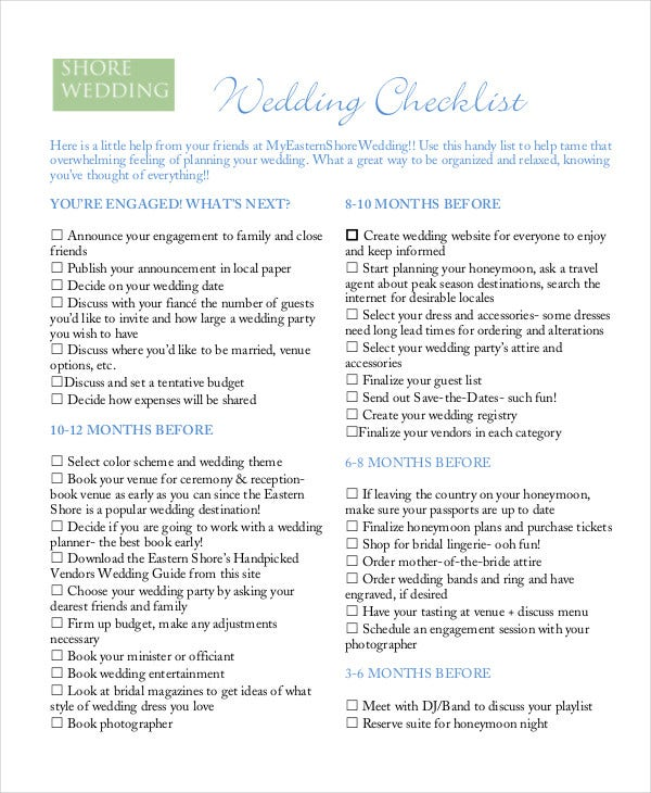 Wedding Checklist. Wedding-Planning-Checklist-Pdf Sample Wedding