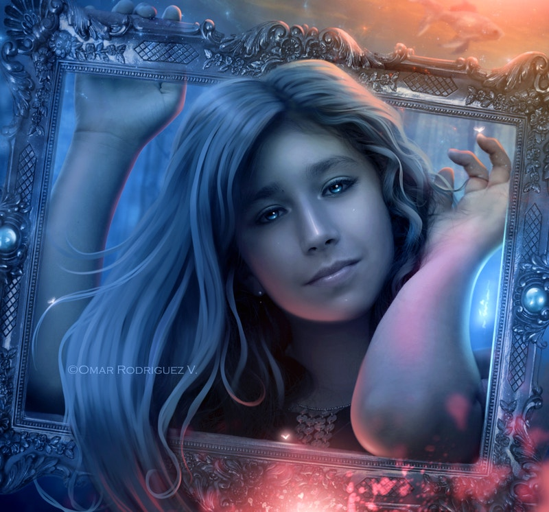magical-painting-of-girl-in-frame