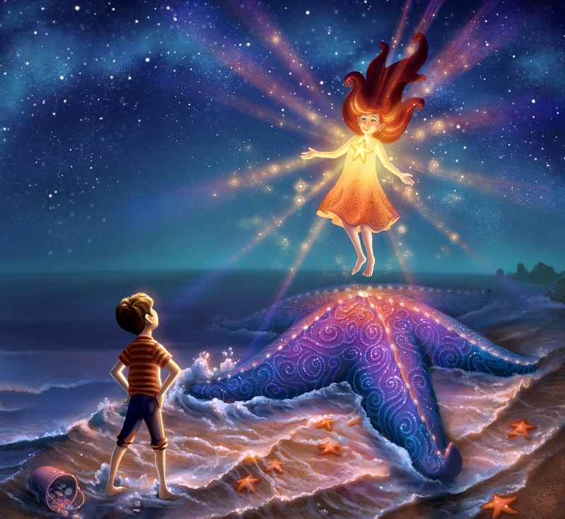 magical-painting-of-starfish