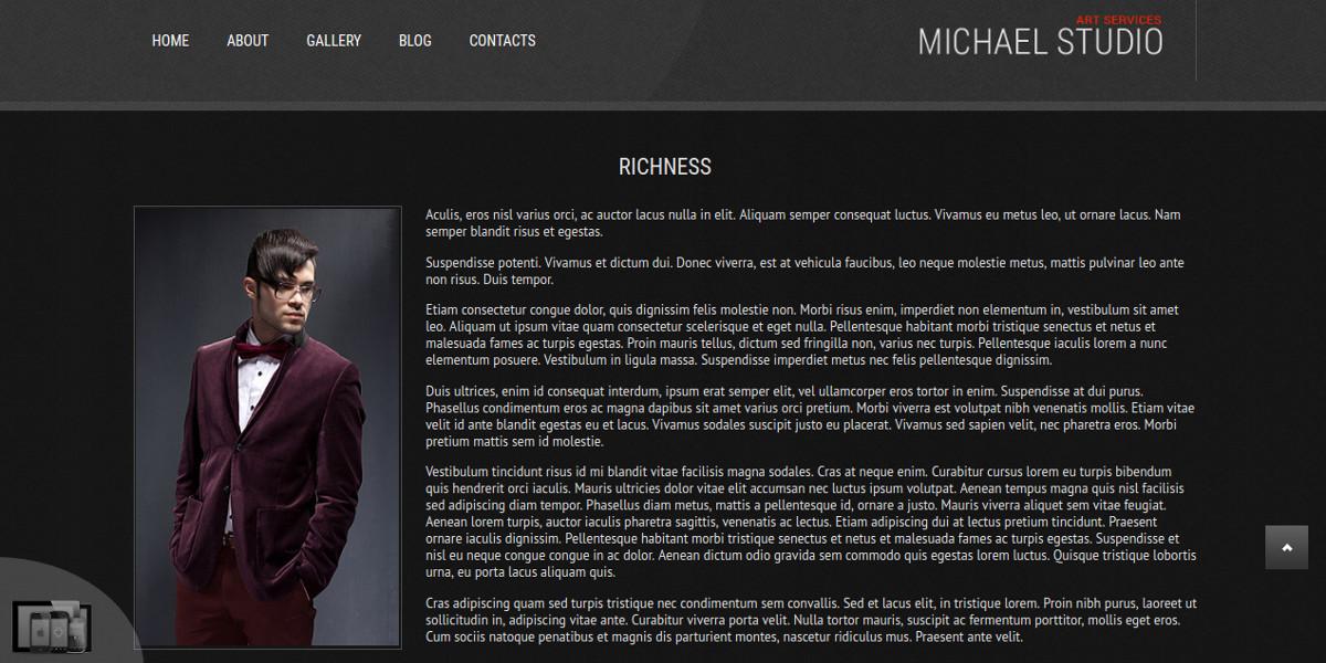 Photographer & Photo Studio Joomla Website Theme $35