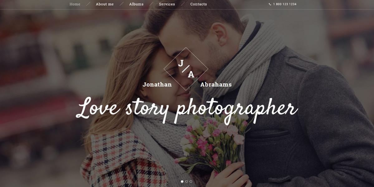 Wedding Photographer Portfolio Website Template $75