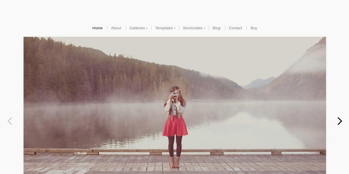Fullscreen Photographer Website Theme $69