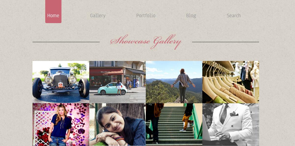 Photo Showcase Gallery Website Theme