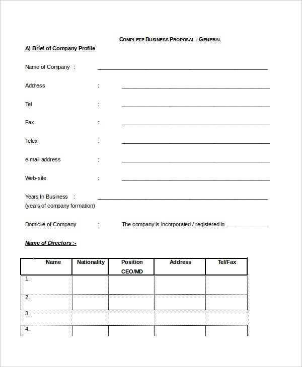 Official Proposal Template Vosvetenet – Official Proposal Template