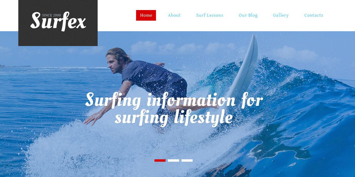 Surfing Responsive Drupal Sports Theme $53