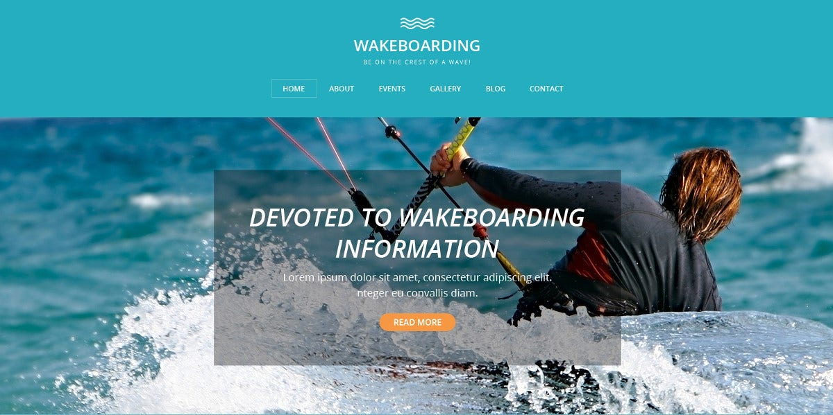 Wakeboarding Drupal Sports Template $53