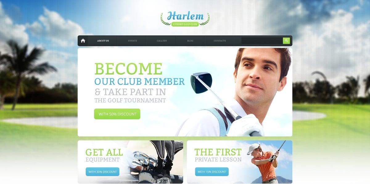 Golf Sport Drupal Template $53