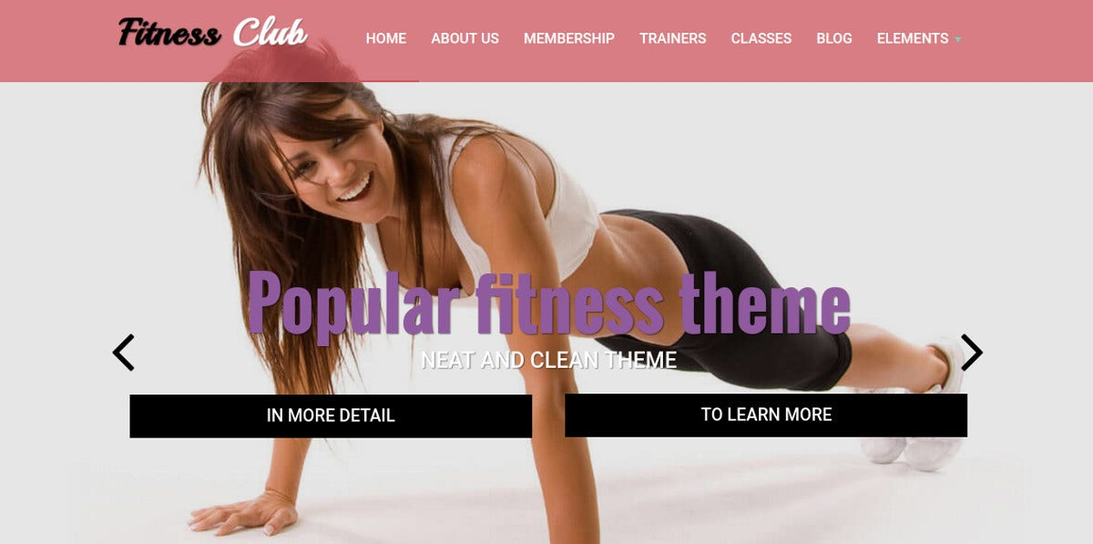 Fitness Club - Sport Drupal Theme $59