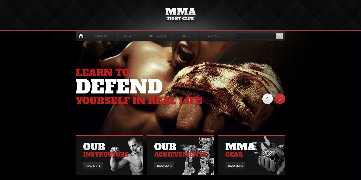 Martial Arts Drupal Sport Theme $53