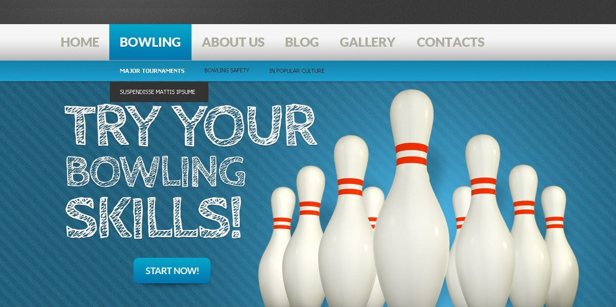 Sports Bowling Drupal Template $47