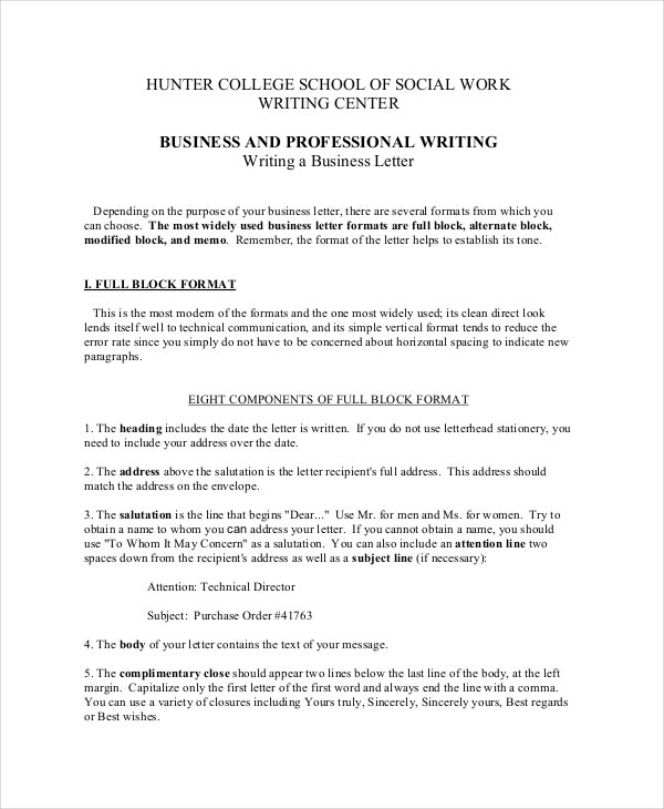 10 types of business letter pdf cover letter templates